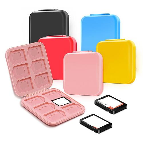 1pcs Storage Box For Switch Game Card 12-in-1 Multi-color Anti-lost Portable Saving Space NS Card TF Card Hard Shell Shockproof
