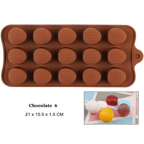 Silicone Chocolate Molds Baking Lovely Nut Shape Kitchen Baking Set for Chocolate Candy Jelly Fudge Cake Decoration DIY Tools