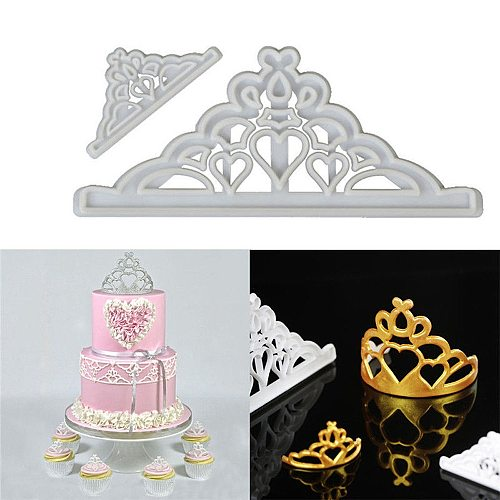 Fondant Cake Cookies Crown Chocolate Mold Silicone Mold Decorative Baking Tools silicone mold Fast Shipping DropShipping
