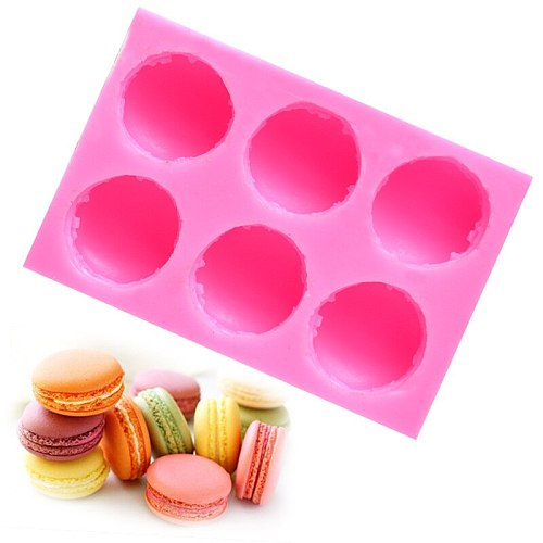 WOWCC Macaron Silicone Mold Chocolate Mousse Fondant Cake Molds Cookies Candy Pastry Mould Biscuits Baking Cake Decoration Tools
