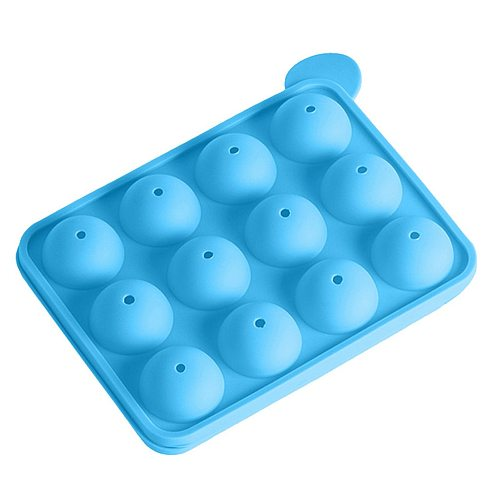 12 Hole Silicone Cake Pops Mold Ball Shaped Die Mold Silicone Lollipop Chocolate Cake Baking Ice Tray Stick Tool #Y5