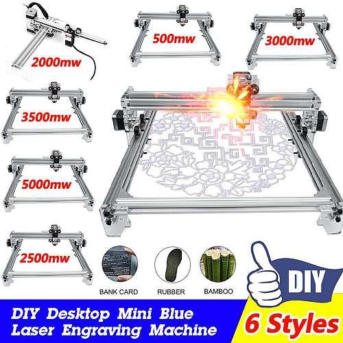 Laser Engraver CNC Router Engraving Machine Off-line Control Desktop DIY Engraver Logomark Printer 65X50cm Working Area