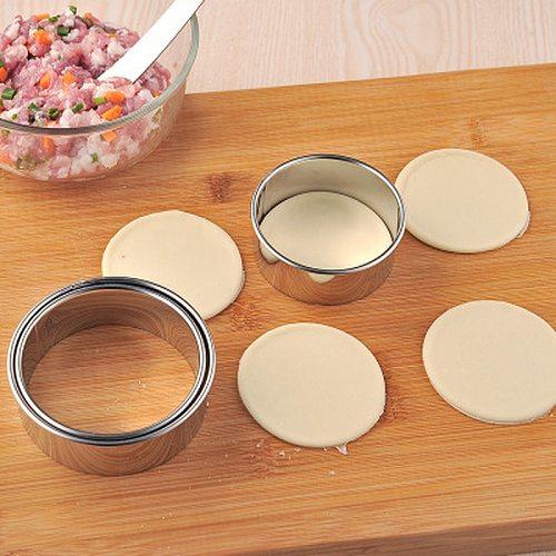 3Pcs Stainless Steel Dumplings Cutter Dough Cutting Mould Cookie Pastry Maker Kitchen Gadgets Portable Dough Press Tool