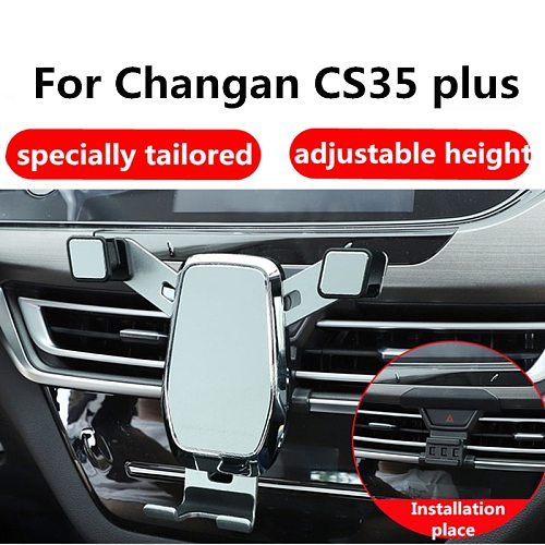 Car Mobile Phone Holder Phone Stand For Changan CS35 Plus  Car Interior Buckle Mobile Phone Bracket Accessories