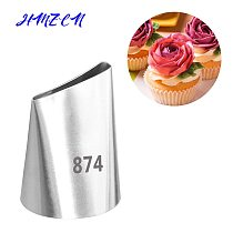 1PC #874 Large Flower Cupcake Stainless Steel Icing Piping Nozzles Pastry Cream Tips Flower Torch Pastry Tube Decoration