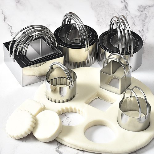 Cookie Cutters, 5-piece Set of Stainless Steel Biscuit Mold, Pastry Cutting Cookie Cutter, Color Box Cake Mold