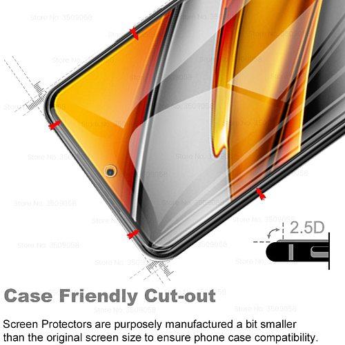 1 to 2 tempered glass poxo poko little f3 glass camera protection glass for xiaomi poco f3 f 3 pocof3 5g screen protectors film