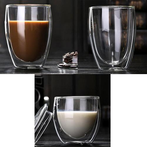 Hot Heat Resistant Double-Wall Insulated Glass Espresso Mugs Latte Coffee Glasses/Whisky/Coffee Cup/Tea Mug