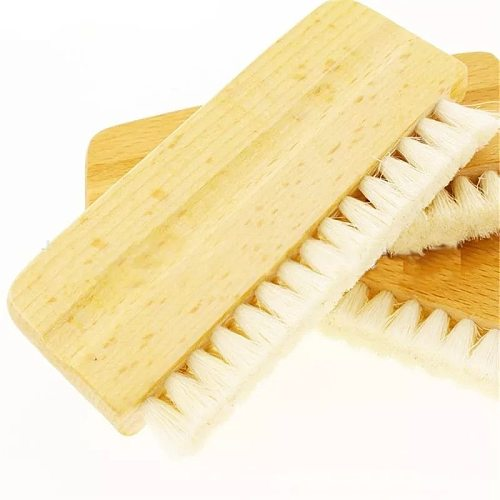 LP Vinyl Record Cleaning Brush Anti-static Goat Hair Wood Handle Brush Cleaner for Cd Player Turntable