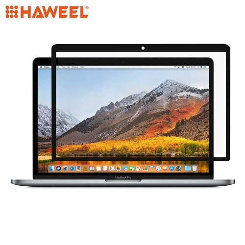 HAWEEL 0.3mm 6H Surface Hardness HD Scratch-proof Full Screen PET Film for MacBook Pro 13.3 inch (2016) (A1706 / A1708) (Black)