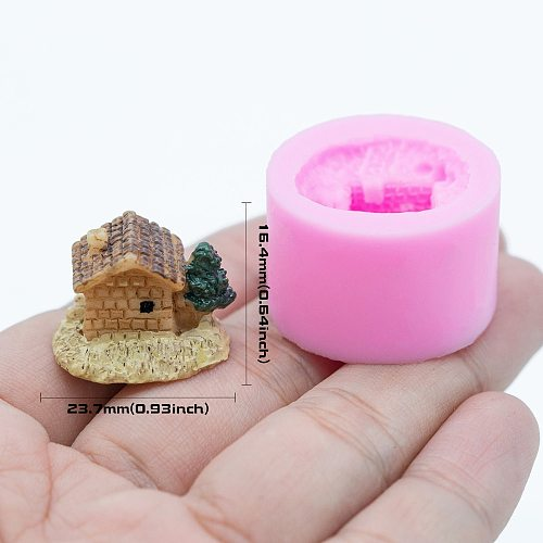 YF318 House Silicone Mold Resin Miniature Food Dollhouse Cake Decorating Fondant Candy Resin Jewelry Pendant Mould