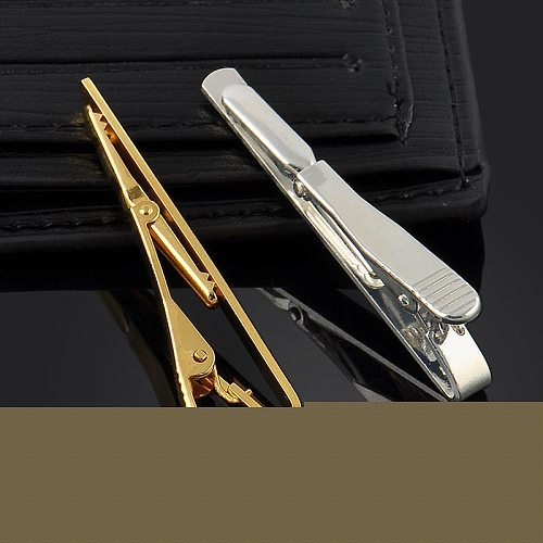1PC Multi-color Men Stainless Steel Necktie Tie Clasps Clip Pin Bar Wedding Gift Smooth crystal Clasp Tie Pin Gifts