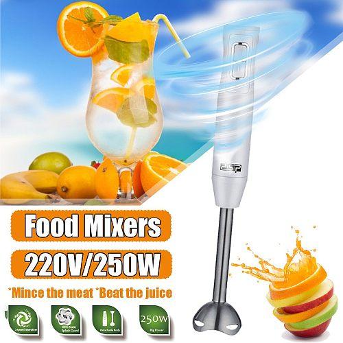 220V 250W 4 in 1 Electric Stick Hand Blender Mixer Hand Immersion Egg Whisk Mixer Juicer Meat Grinder Baby Food Grinder Stick