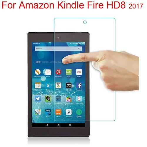 9H Tempered Glass Screen Protector For Amazon Fire HD8 2017 Screen Film Cover Guard HD8 2019 AmazonHD8 Screen Skin