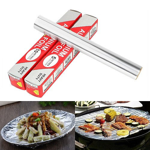 5m/10m*30cm Tinfoil Paper Sheet Roll Aluminum Foil Paper Barbecue Cooking BBQ Grill BBQ Baking Tool Tin Foil Paper