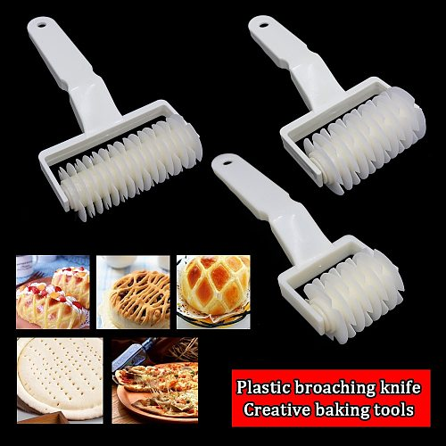 3 Size Kitchen High Quality Pie Pizza Cutting Pastry Plastic Baking Tools Bakeware Embossing Dough Roller Lattice Cutter Craft