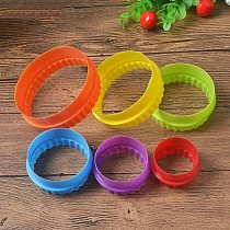 1 Set Plastic Cupcake Round Shape Cookie Cutter Cake Mold Biscuit Fondant DIY Cake Kitchen Cooking Tools 6 size together