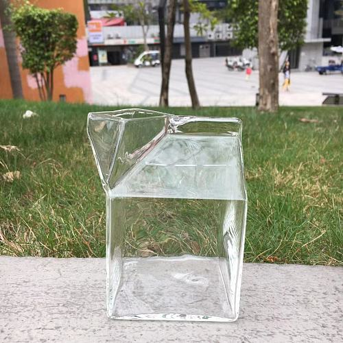 factory direct sale 400ml square strawless drink glass drink cup drink mug