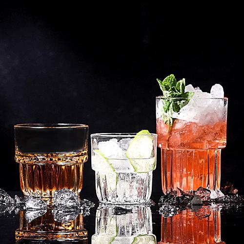 160/250/330ml KTV Bar Single Layer Glass Cup Whisky Cocktail Coffee Clear Mug Handmade Beer Mug Tea glass Whiskey Cups Drinkware