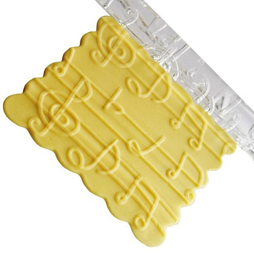 Cookies Bake Tool Rolling Pins Pastry Boards 4 Shapes Textured Embossing Acrylic Rolling Pin Cake Decorating Fondant Tools
