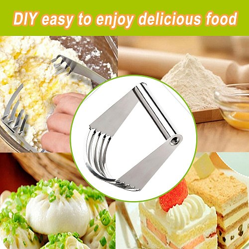 Stainless Steel Hand Held Pastry Blender Maker Dough Cutter Mixer Cake Baking Pastry Cutter Tools Supplies Kitchen Craft