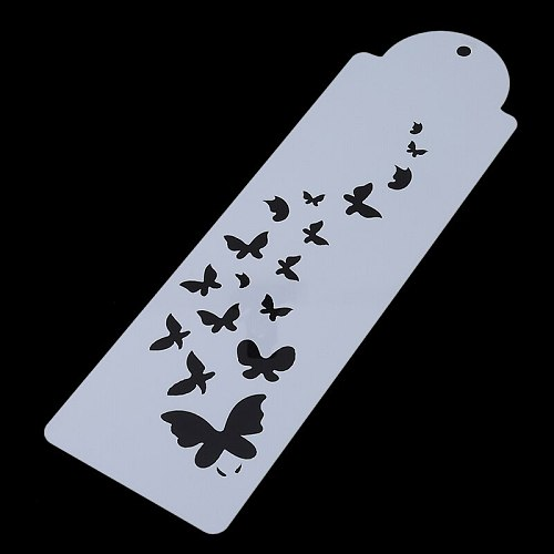 Butterfly Art Cake Stencil Airbrush Plastic Painting Art Cake Spray Mold Cookies Fondant Molds DIY Cake Mousse Brim Decorating