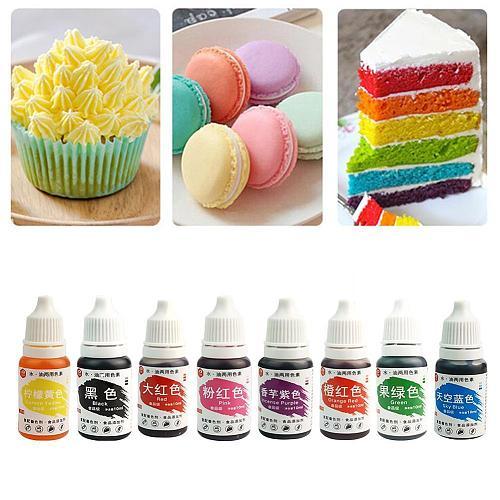 10ml Macaron Cream Food Coloring Ingredients Cake Fondant Concentrated Baking Pigment Cake Edible Color Liquid Baking Edibl G8Q8