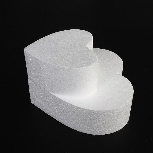 4/6/8/10 inch DIY Practice Model Cake Foam Mold Sugarcraft Dummy Party Heart Shaped Polystyrene Styrofoam Kitchen Accessories