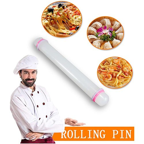 Non-stick Fondant Roller Silicone Rolling Pin Cake Pastry Cooking Baking Fondant Cake Dough Roller Pastry Boards Tool#45 Sale