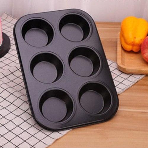6/12/24 Holes Cake Baking Pan Bakeware Muffin Cupcake Mold DIY Non-Stick Baking Dish Carbon Steel Kitchen Oven Trays Pastry Tool