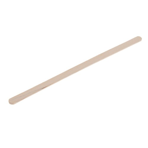 100x Disposable Wood Coffee Stirrer Stick for Hot Cold Drink Beverage 5.5''