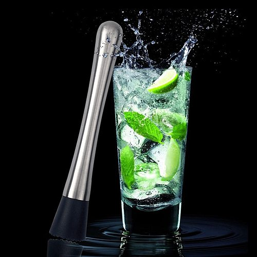 Stainless Steel Crushed Ice Muddler Cocktail Bartender Fruit Masher Pestles DIY Drink Mixer Bar Tools Durable