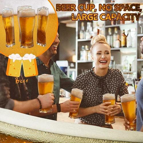 Beer Glasses 4 In 1 Acrylic Material Beer Mug Super Schooner Creative Funny Acrylic Glass Beer Mugs Set Glass Cup Kitchen Cocina