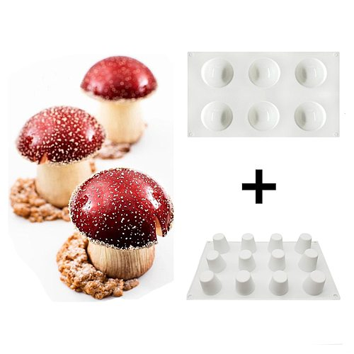 6/8 Cavities Mushroom Shape Silicone Mold Half Round Cake Mold Cone Silicone Mold Cake Decorating Tools Cake Tools