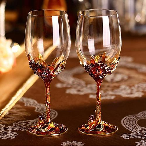 350mL Wine Glass Juice Drink Cocktail Glass Champagne Goblet Red Wine Cup Party Barware Crystal Glass Kitchen Drinkware Tools