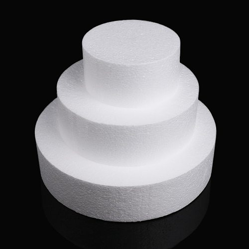 1PC Lightweight Cake Foam Mould Round Polystyrene Sugarcraft Kitchen Accessories Practice Model Party DIY Decoration Tools