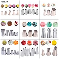 Russian Piping Tips Cream Nozzles For Cake Tool Bakery Accessories Flower Piping Pastry Bag Cake Decorating Tools Pastry Decor