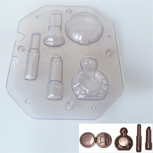 3D Fashion Cosmetic Lipstick Perfume Chocolate Mould Candy Cake Jelly Mold Wedding Decorating DIY Tool Women's Gift