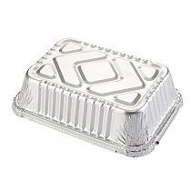 Tin carton barbecue rectangular aluminum foil box lunch box tin foil bowl disposable takeaway packed lunch box container