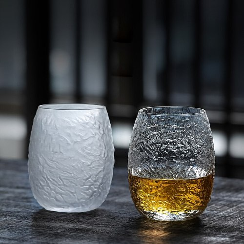 Japanese style beer cup Cocktail Glass whisky Vodka coffee water mug Home Drinkware champagne shot glasses Transparent cups