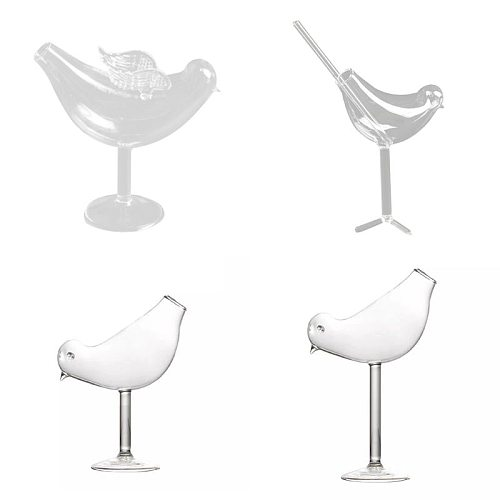 150Ml Creative Bird Shape Cocktail Goblet Glass Personality Molecular Smoked Modelling Glass Fantasy Wine Goblet
