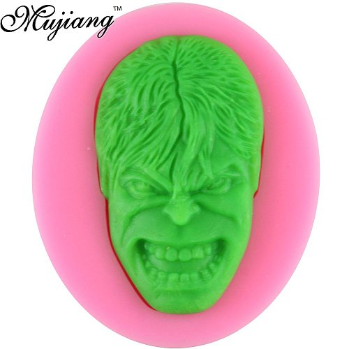 3D Hulk Figure Silicone Cake Mold Clay Chocolate Candy Molds 3D  Fondant Cake Decorating Tools Kitchen Baking