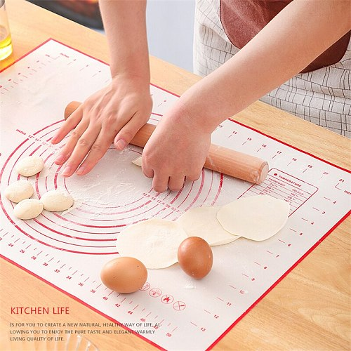 Large Size Silicone Baking Mat Non-Stick Pastry Pad Sheet Pizza Dough Rolling Mats Reusable Oven Patisserie Cake Baking Tools