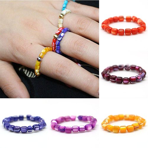 Gothic Natural Stone Rings for the Women Fashionl Adjustable Round Multi Color Birthday party Gifts Charm Cystal Ring