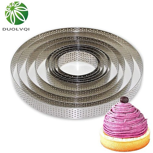 Mousse Cake Fruit Pie Circle Mold Round Stainless Steel Cake Making Molds Pizza Dessert DIY Decoration Mould Kitchen Baking Tool