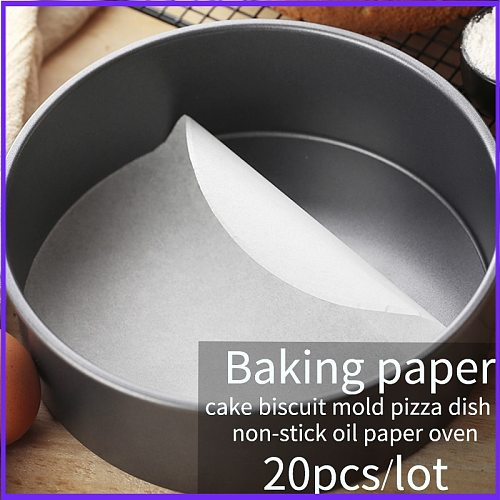 Baking Paper Parchment Paper Liners for Round Sheets Pan  BBQ Paper pad  non-stick oil paper oven  cake baking mat 20pcs/Set