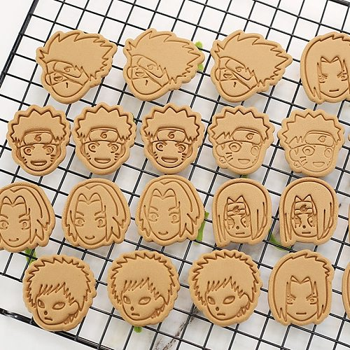 Anime Cookies Cutter Tools 3D Pressing Baking Accessories Bakery Tools Kitchen Supplies Halloween Christmas Party