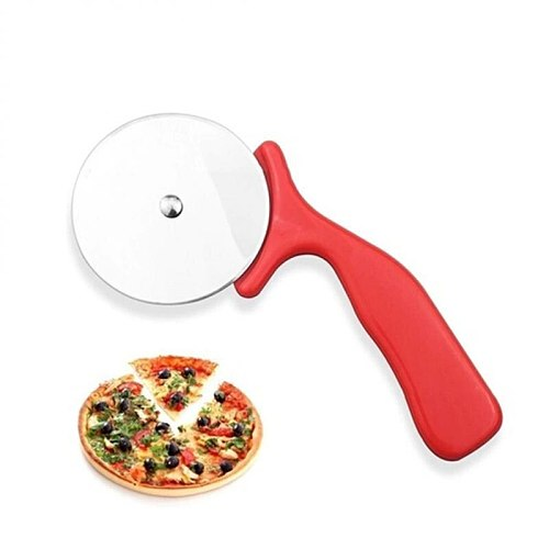 1pc Stainless Steel Pizza Cutter Knife Cake Tools Pizza Wheels Scissors Ideal Pizza Pies Dough Waffles Cookies Kitchen Gadgets