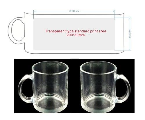 325ML(11oz) DIY print Glass Mug Cup  customize Photo Image LOGO Text Transparent White Creative Gifts Souvenir Promotion Sell