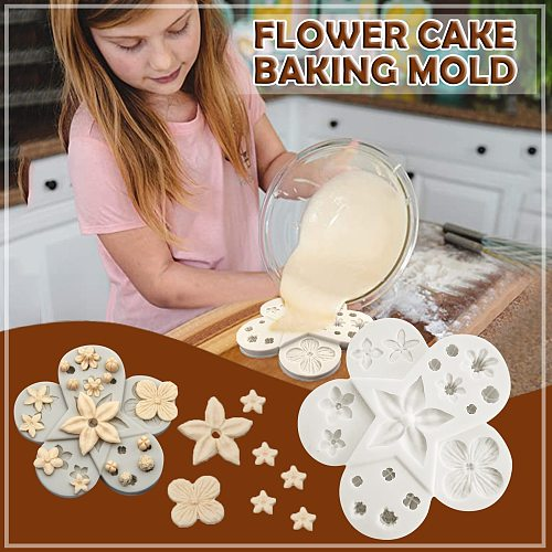 Silicone Chocolate Baking Mold Cake Decoration Flower Leaves Cake DIY Flower candy, cake decoration, fondant chocolate Mould